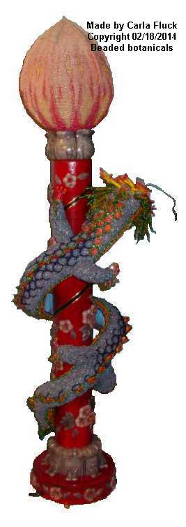 Beaded Chinese Dragon Rear View